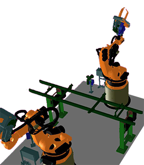Simulation programmierung und inbetriebnahme von industrie robotern